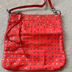 Rebecca Minkoff Orange Stud Crossbody Handbag